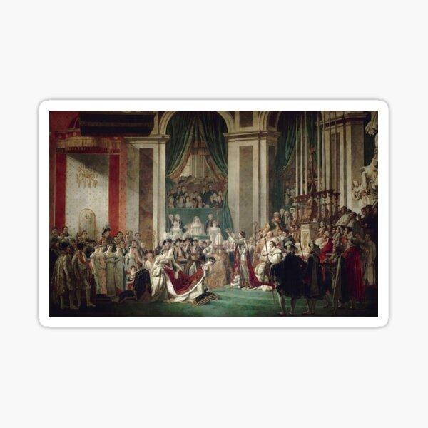 The Coronation of Napoleon and Josephine - Jacques-Louis David Sticker