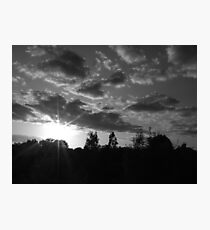 September Sunset in a London Suburb Photographic Print