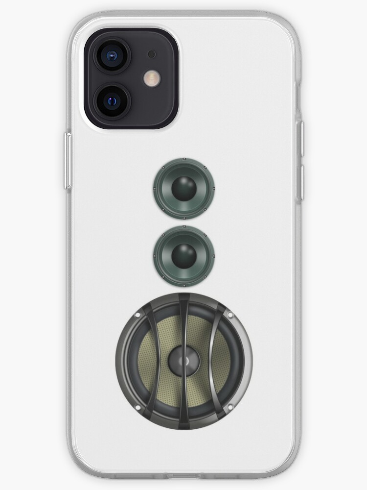 Massive Sound Bass Music Speaker Tee - White Cell Phone Cover  iPhone Case  & Cover