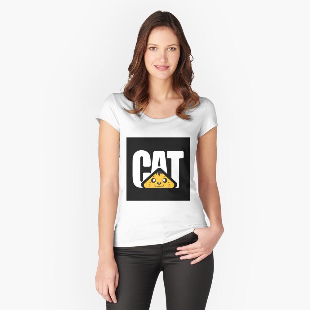CAT Machine Camiseta entallada de cuello redondo