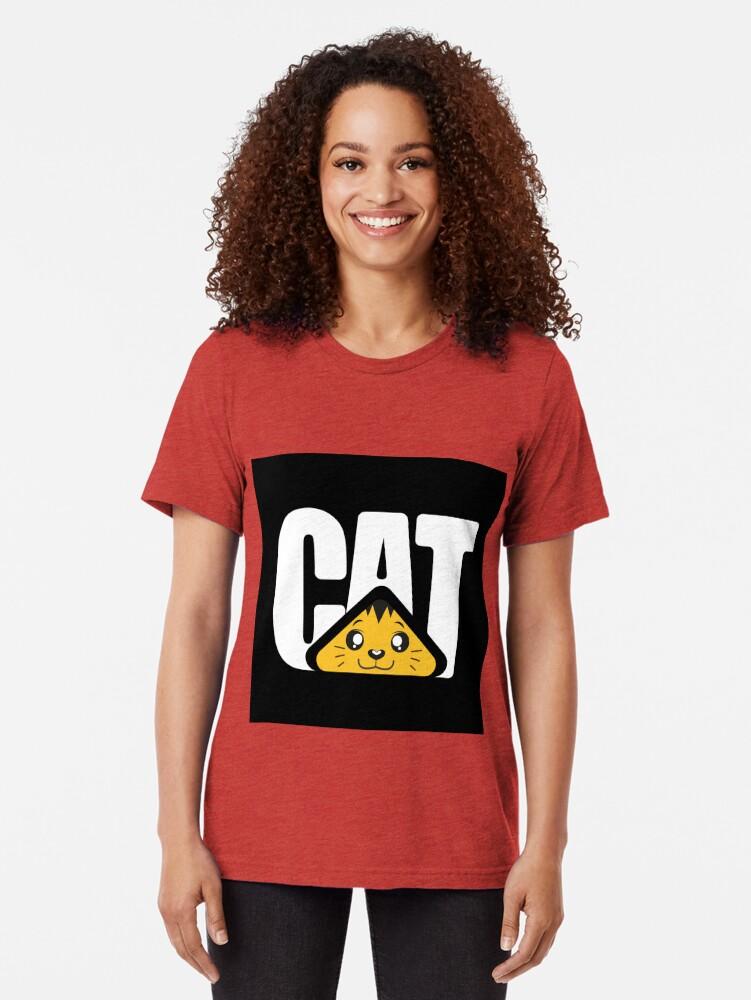 Vista alternativa de Camiseta de tejido mixto CAT Machine