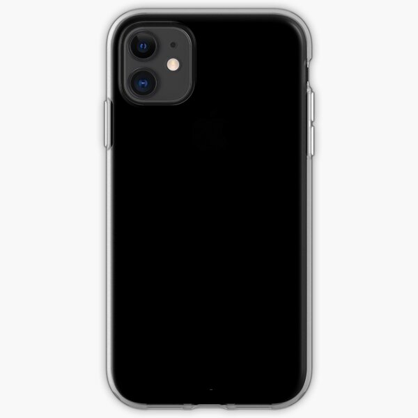 Plain Black - Solid Black - iPhone Case iPhone Soft Case