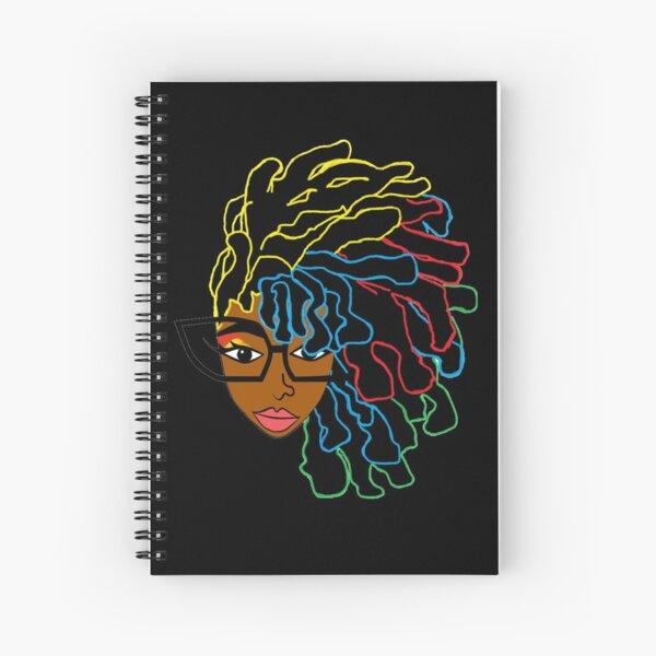 Natural Hair Dreadlock Beauty Design 1 Spiral Notebook