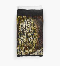 Shakespeare-Sonett 3 Text-Porträt Bettbezug