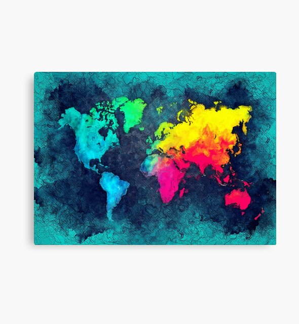 world map colors #map #world by JBJart