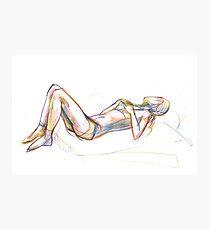 woman sketch Photographic Print