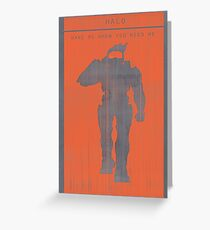 Halo Master Chief Gaming Poster Greeting Card