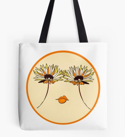 Smile, Flower Eyes Tote Bag