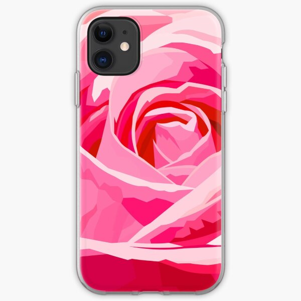 Pink rose iPhone Soft Case
