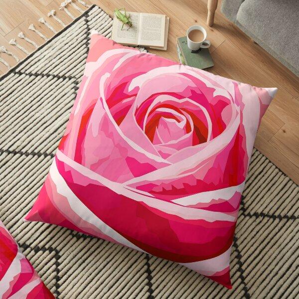 Pink rose Floor Pillow