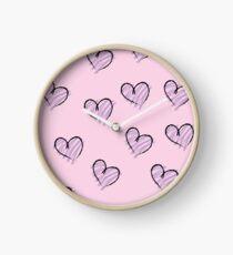 handmade hearts Clock