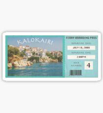 Kalokairi Ferry Pass- Island Sticker