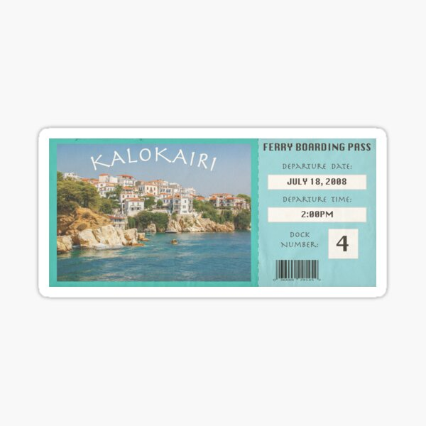 Kalokairi Ferry Pass- Island Sticker