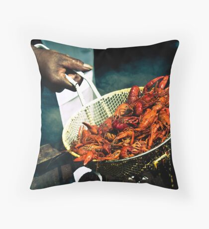 Crawfish Boil Throw Pillow