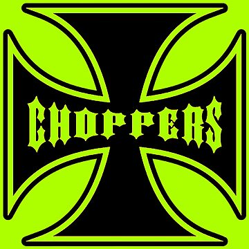 Chopper Maltese Cross Design Lime Green by Sookiesooker