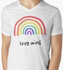 LGBTQA+  PRIDE [Love Wins] Men's V-Neck T-Shirt