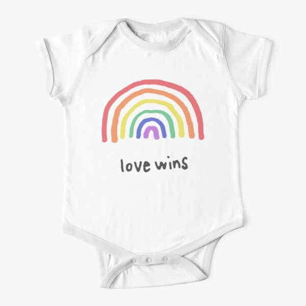 LGBTQA+  PRIDE [Love Wins] Short Sleeve Baby One-Piece