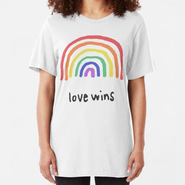 LGBTQA+  PRIDE [Love Wins] Slim Fit T-Shirt