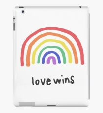 LGBTQA+  PRIDE [Love Wins] iPad Case/Skin