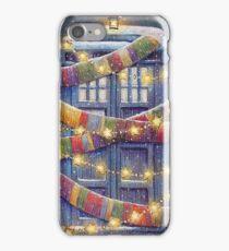 Doctor Who Christmas Tardis  iPhone Case/Skin