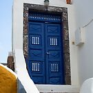 Grecian Blue Door by noeldolan