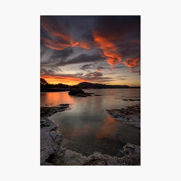 Sulfur Point, Lake Rotorua Photographic Print