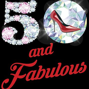 '50 and Fabulous Sparkly Shoes' 50th Birthday Vintage Gift by leyogi