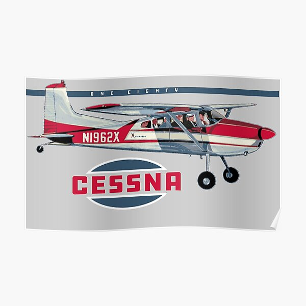 Cessna 180 vintage aircraft Poster