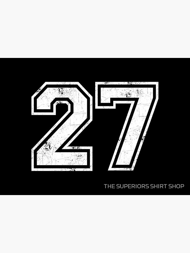 27 jersey jerseys number 27 jersey Sport | Art Board Print