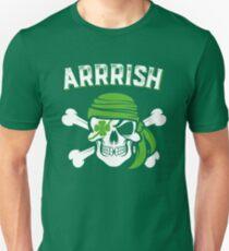Arrish Irish Pirate Funny St Patricks Day Unisex T-Shirt
