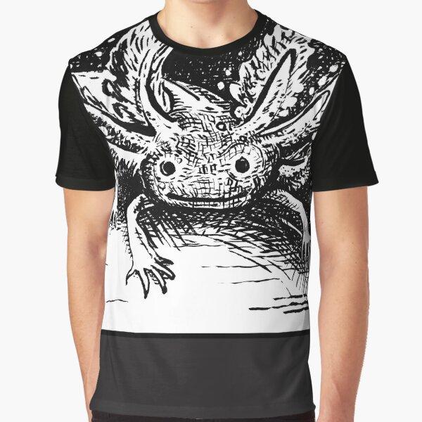 Space Axolotl Earth Rise Graphic T-Shirt