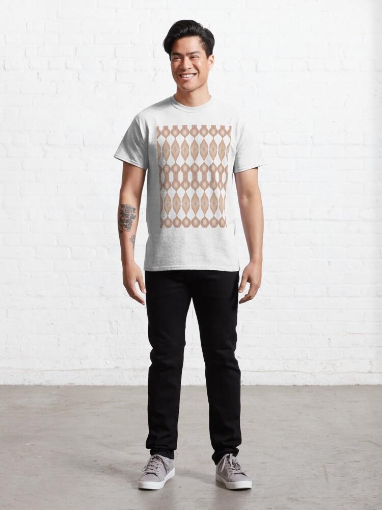 Alternate view of #Symmetry #Pattern #shape #paper #wood #vertical #human #body #bodypart Classic T-Shirt