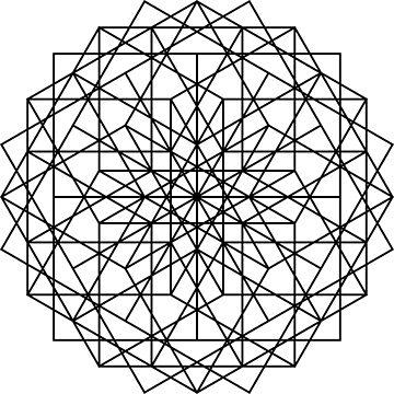 Diamond of Squares ~~ Sacred Geometry by FreshThreadShop