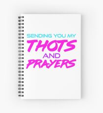 Thots and Prayers - Vaporwave Edition Spiral Notebook