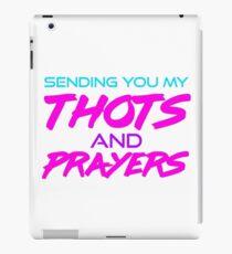Thots and Prayers - Vaporwave Edition iPad Case/Skin
