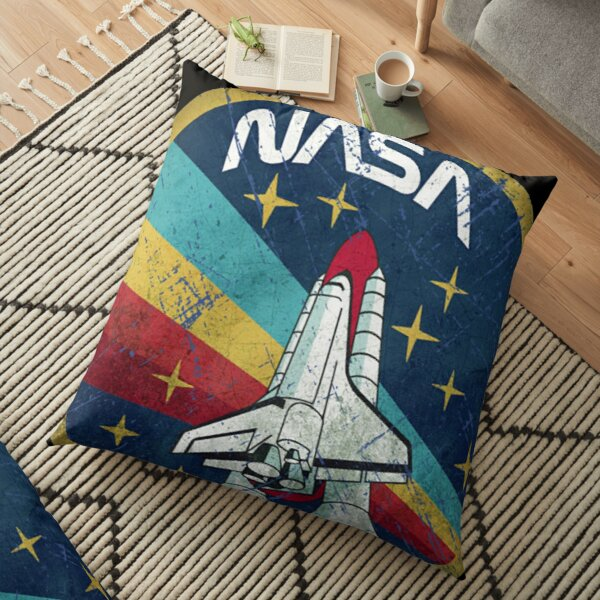 NASA Logo Retro Vintage Floor Pillow