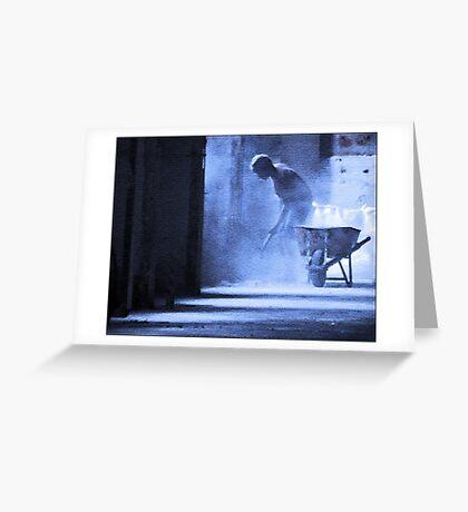 the plasterer Greeting Card