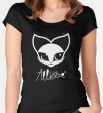 ALLKATZE * Space Cat - Weltraum-Katze - Chat d'Espace Tailliertes Rundhals-Shirt