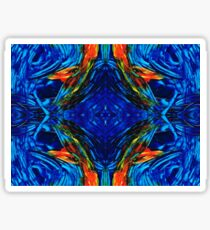 Colorful Blue Abstract - Peace With The Past by Sharon Cummings Sticker