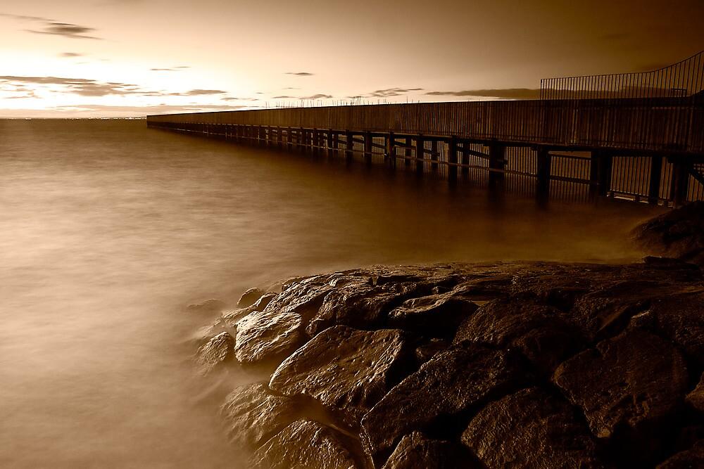 Dusk at Middle Brighton Baths #4 by Jason Green