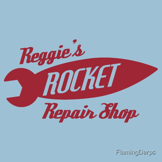 TShirtGifter presents: Reggie's Rocket repair shop