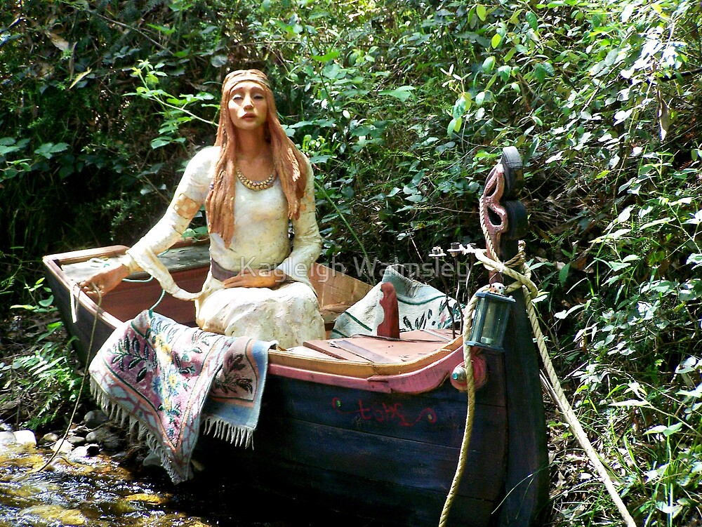 Celtic Goddess in a Boat by Kayleigh Walmsley