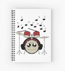 Schlagzeug mit Kopfhörer Spiralblock