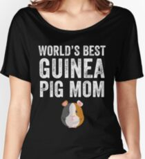 World  39 s best guinea pig mom Women s Relaxed Fit T-Shirt 0b421169a