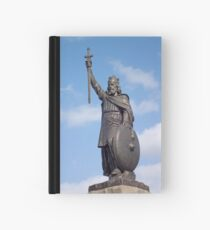 Statue of King Alfred the Great, Winchester, UK, also available on a T-shirt Hardcover Journal