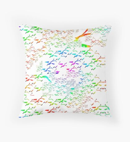 Swans a flying pattern, multi colour  Throw Pillow