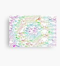 Swans a flying pattern, multi colour  Canvas Print