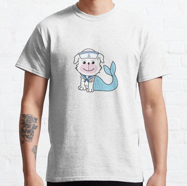 "Merdoggo Saillor ""MerMan"" Blue Classic T-Shirt"