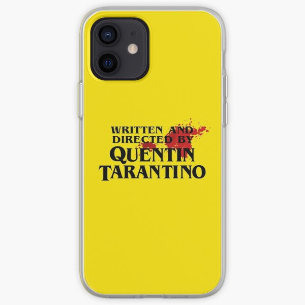 Bloodstained Written And Directed By Quentin Tarantino Artwork, Posters, Prints, Tshirts, Mugs, Bags, Women, Men iPhone Soft Case