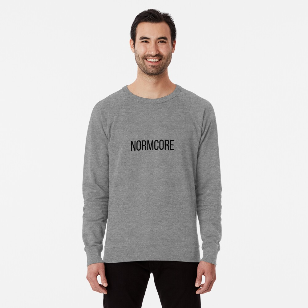 NORMCORE white HARDCORE NORMAL Leichter Pullover